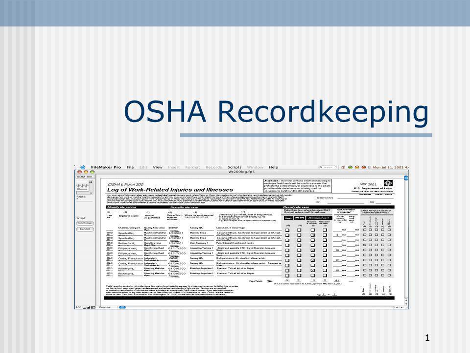 1 OSHA Recordkeeping
