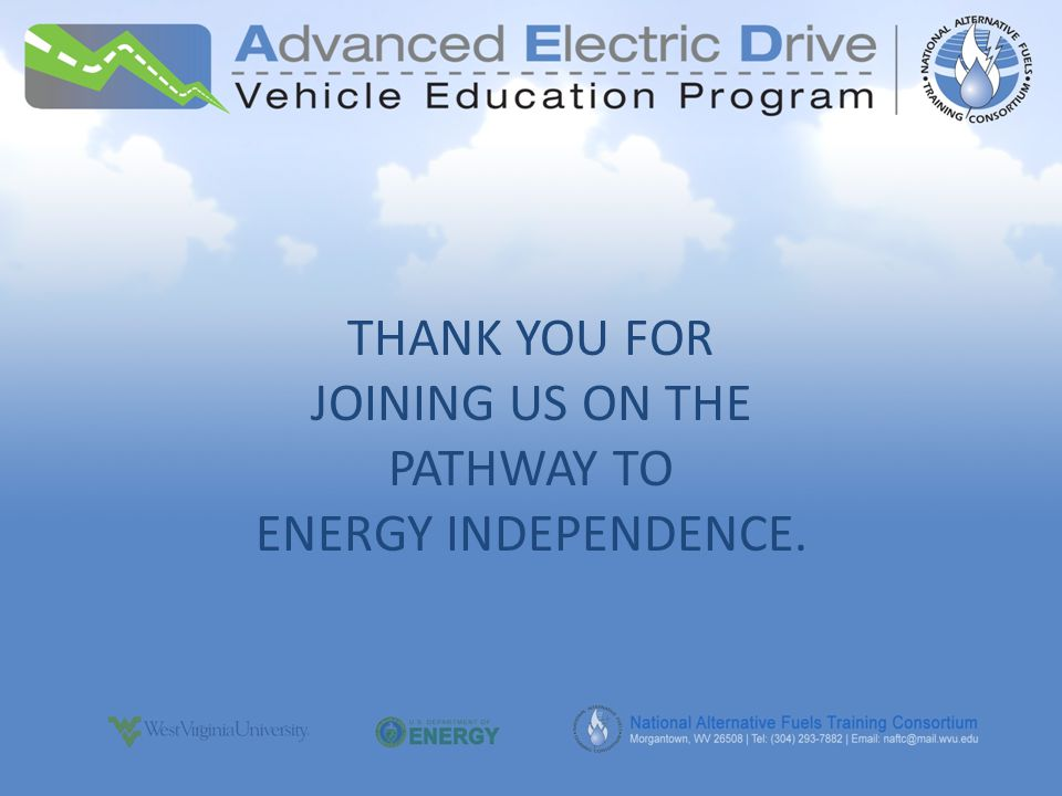 THANK YOU FOR JOINING US ON THE PATHWAY TO ENERGY INDEPENDENCE.