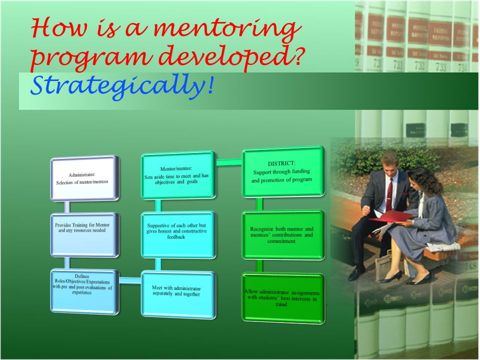 How is a mentoring program developed? Strategically!