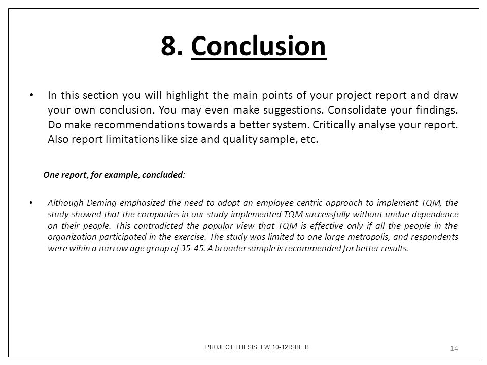 Sample Essay Conclusion