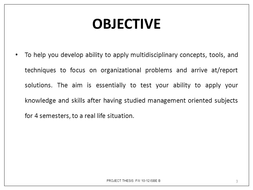 Objectives Of Thesis Writing... Rialto Thesis Objections | Writing - Thesis  Objections