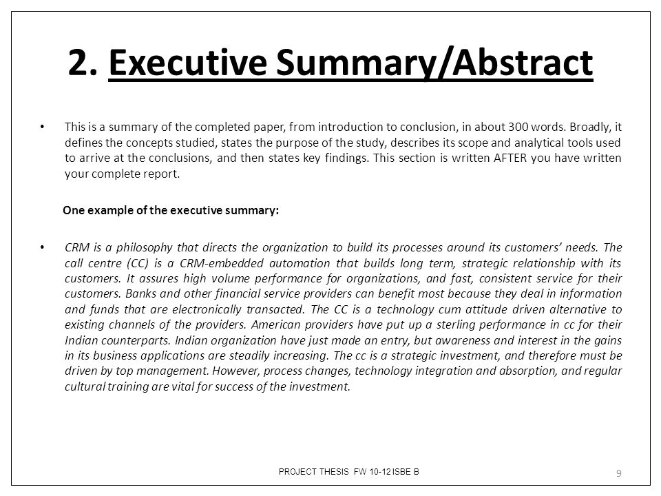 dissertation and abstracts Structure how to structure your dissertation abstract abstracts written for undergraduate and master's level dissertations have a number of structural components []even though every dissertation is different, these structural components are likely to be relevant for most dissertations.