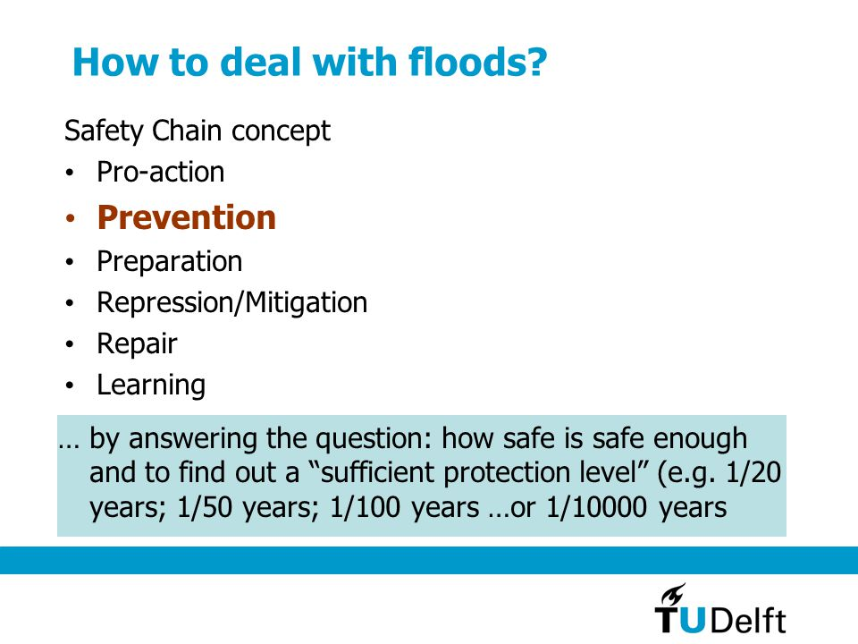 How to deal with floods.
