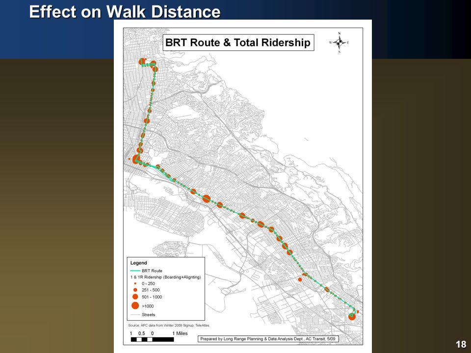 18 Effect on Walk Distance 18