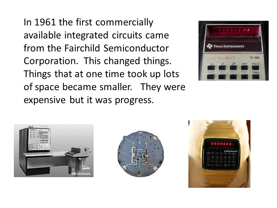 The first computers used vacum tubes and wires to perform simple basic calculations. One computer would fill a room. They were programed with punch ca