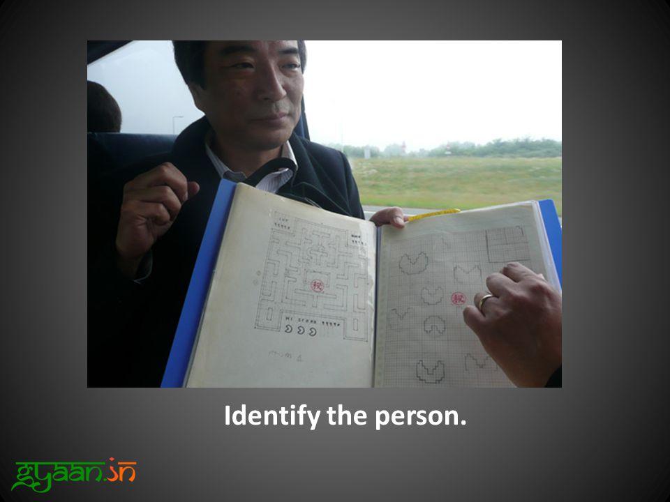 Identify the person.
