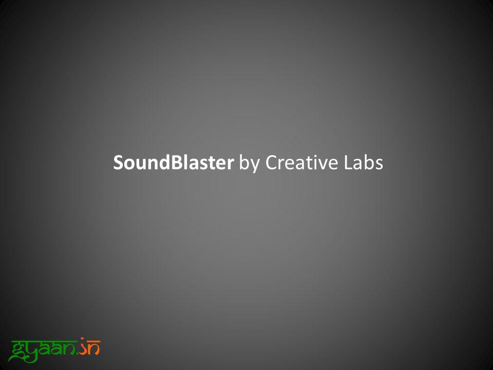 SoundBlaster by Creative Labs