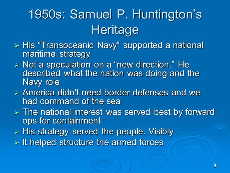 3 1950s: Samuel P.