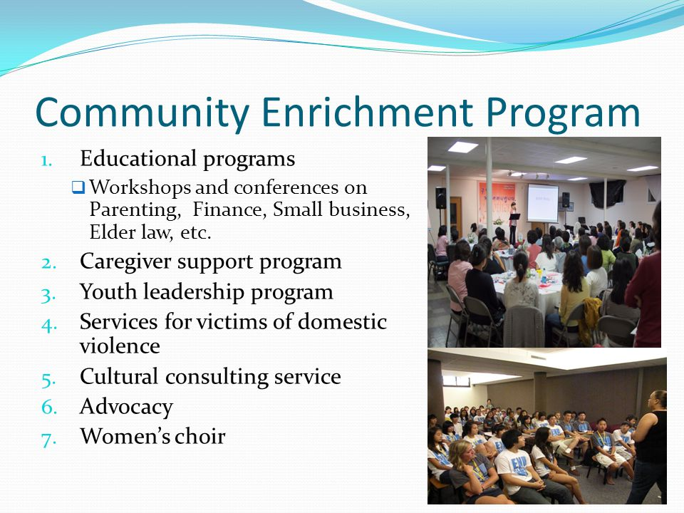 Community Enrichment Program 1.