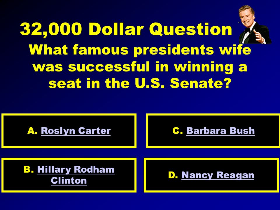 16,000 Dollar Question Name the U. S.