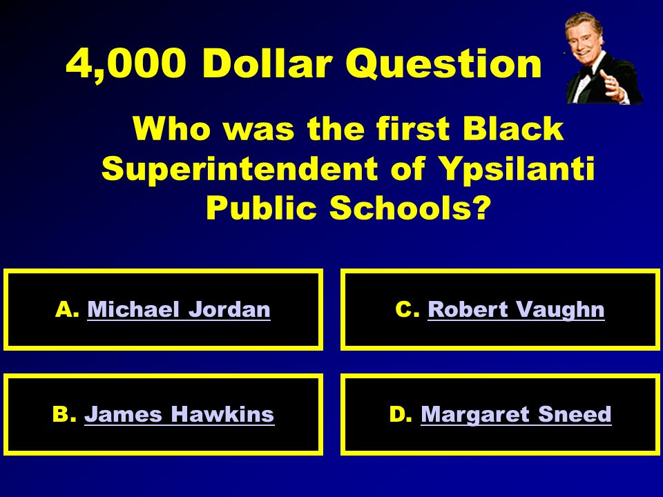 2,000 Dollar Question Who was the first Black Ambassador of the United States.