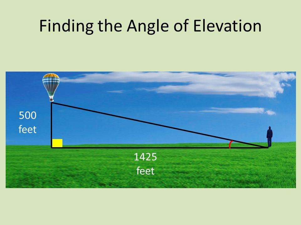 500 feet 1425 feet Finding the Angle of Elevation