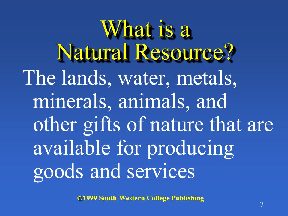 6 What is received for resources.