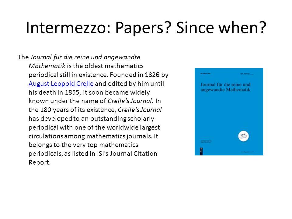 Intermezzo: One famous author in Crelle's Journal