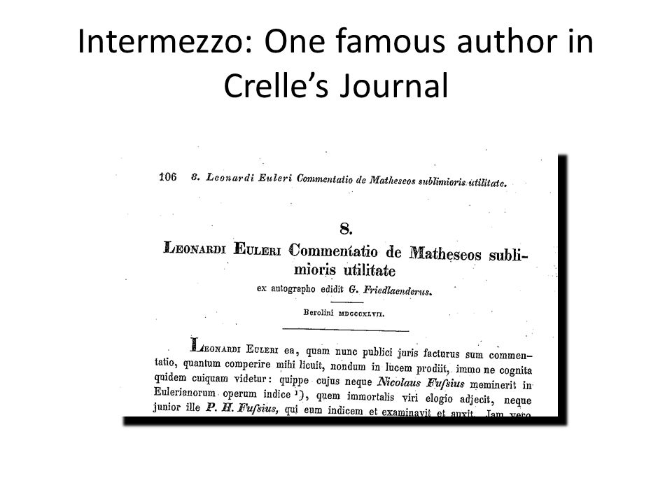 Intermezzo: How to survive as a scientist? (150 years ago)