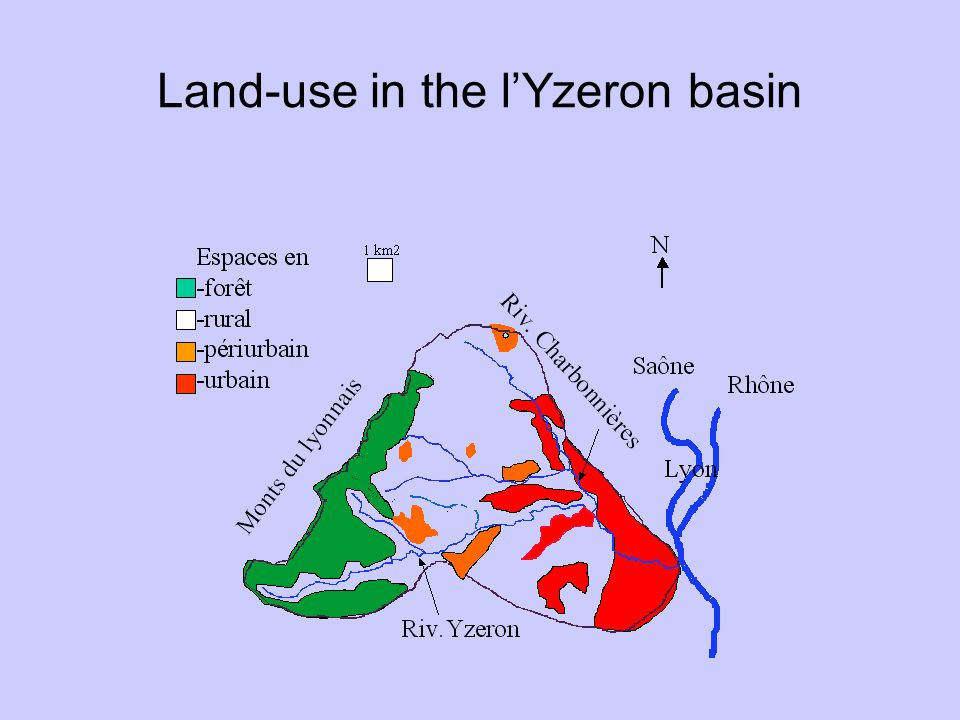 Land-use in the l'Yzeron basin