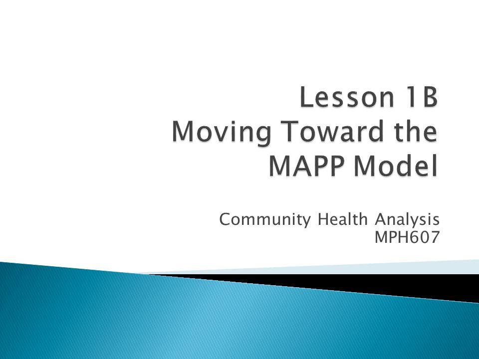 Community Health Analysis MPH607