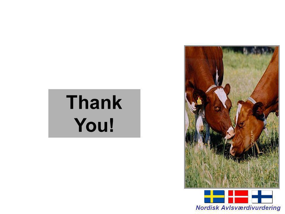 Nordisk Avlsværdivurdering Thank You!