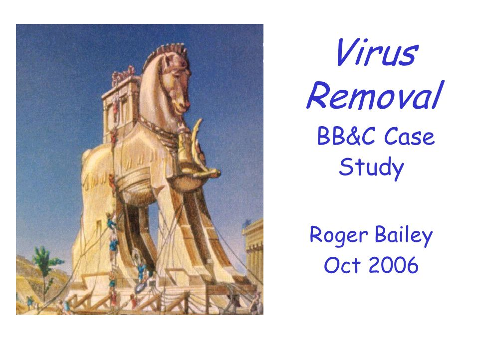 BB&C Topical SIG Case Study Roger Bailey October 2006