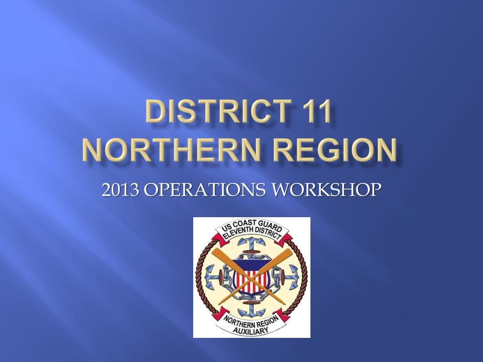 2013 OPERATIONS WORKSHOP