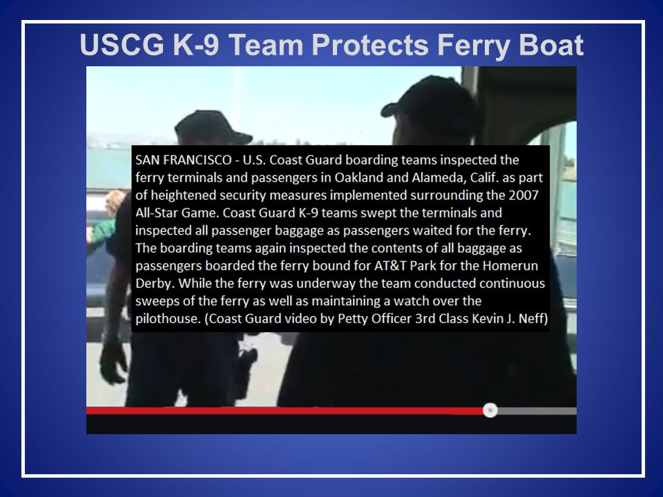 USCG Sector San Francisco Inspections Department Michael DeVolld, LT Marine Inspector