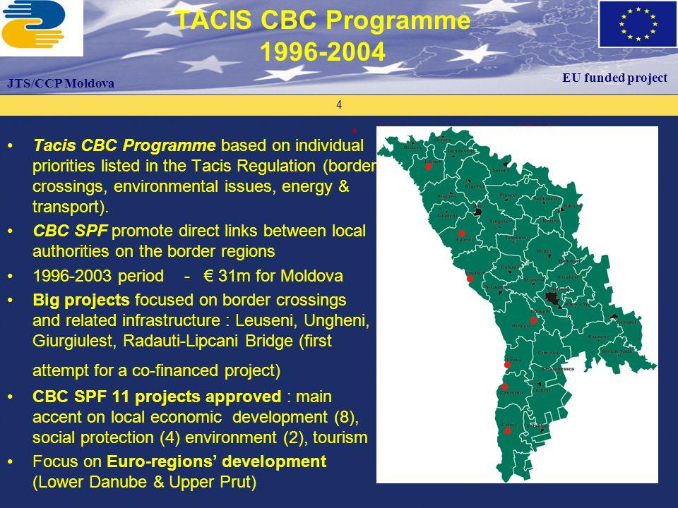 Proiectul este finanţat de către Uniunea Europeană Proiectul este implementat de către ECO 3 – Organizaţia Consultanţilor Europeni Programul UE Tacis Suport Biroului Naţional de Coordonare 25 Thank you .