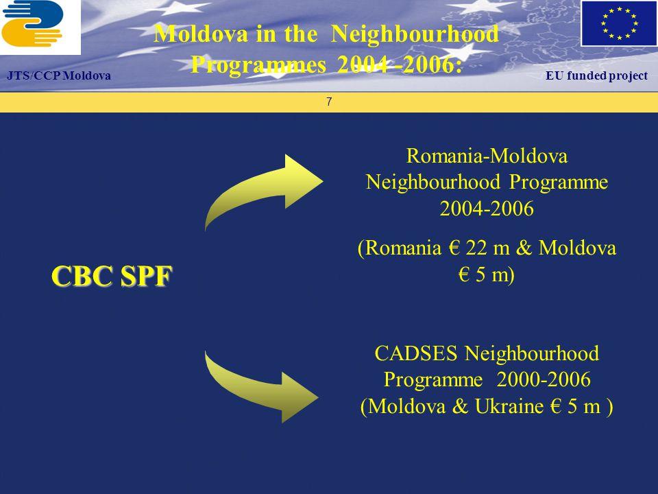 Proiectul este finanţat de către Uniunea Europeană Proiectul este implementat de către ECO 3 – Organizaţia Consultanţilor Europeni Programul UE Tacis Suport Biroului Naţional de Coordonare 18 Institution building: CBC programmes structures and expertise partially transferable to the CBC ENPI Programmes.