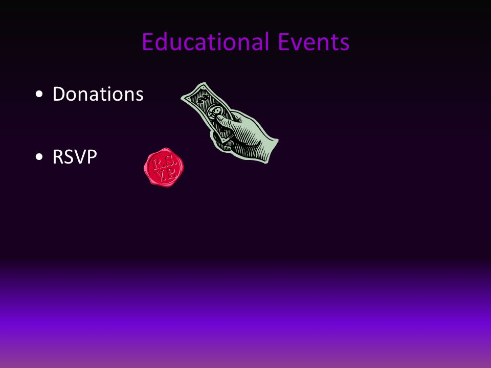 Educational Events Donations RSVP