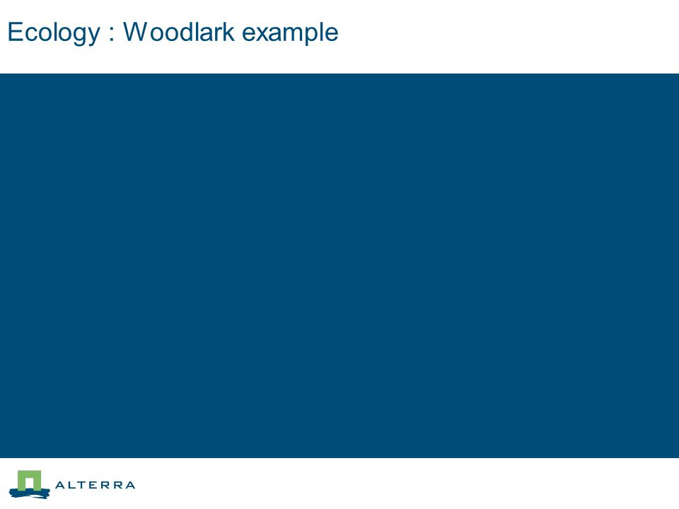 Ecology : Woodlark example