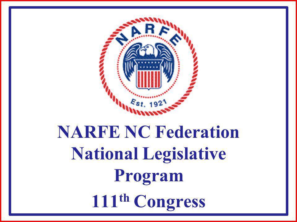 NARFE NC Federation National Legislative Program 111 th Congress