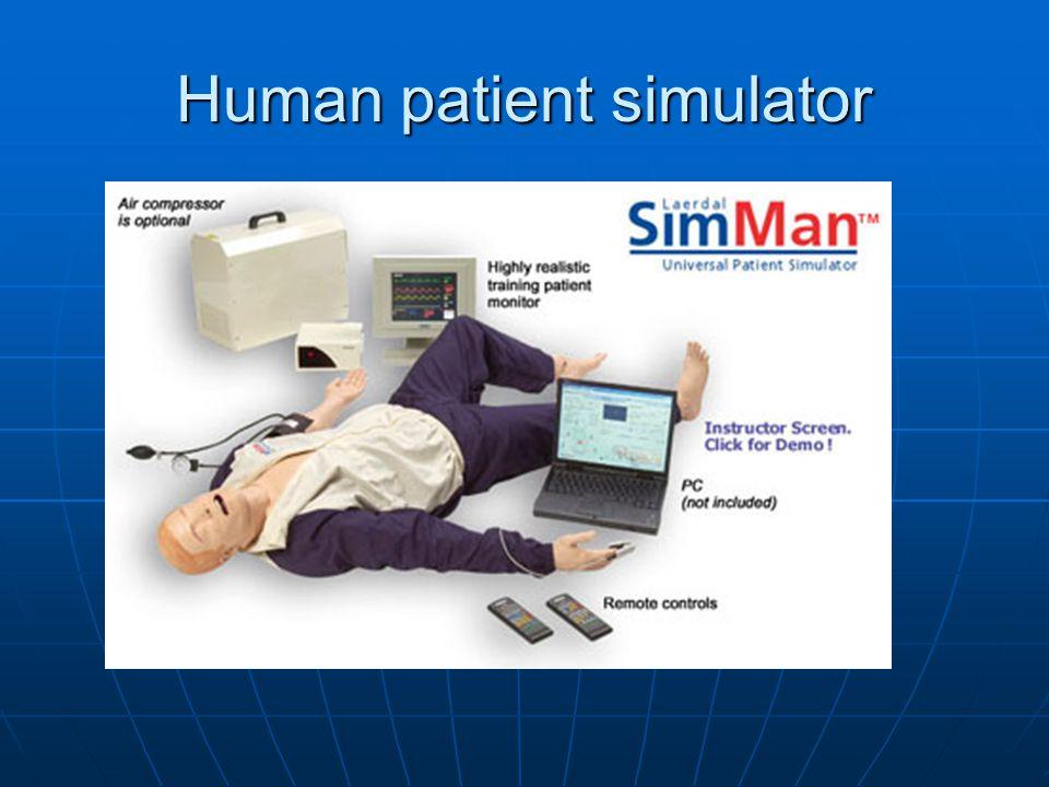 Human Patient Simulators Adult Adult Child Child Laboring patient Laboring patient Newborn Newborn Baby Baby