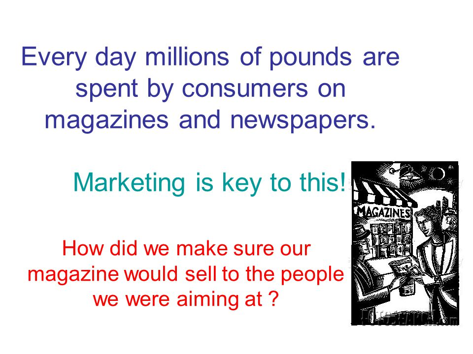 Every day millions of pounds are spent by consumers on magazines and newspapers.