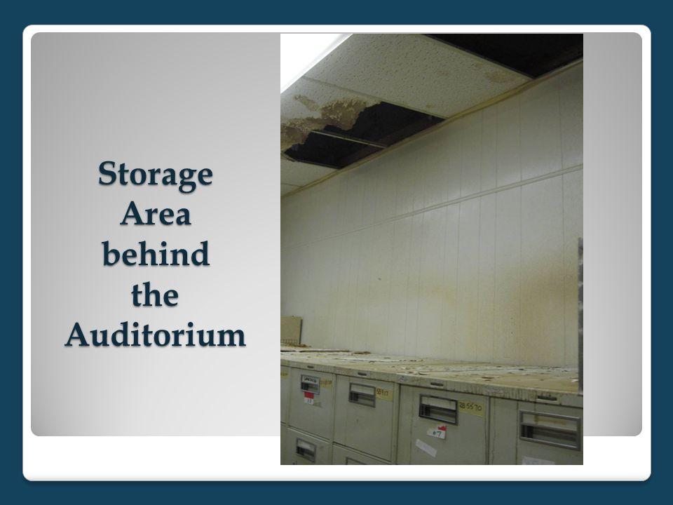 Storage Area behind the Auditorium