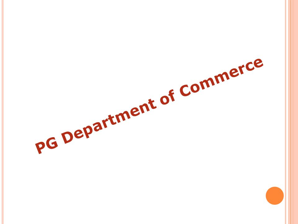 PG Department of Commerce