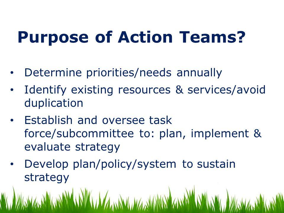 Purpose of Action Teams.
