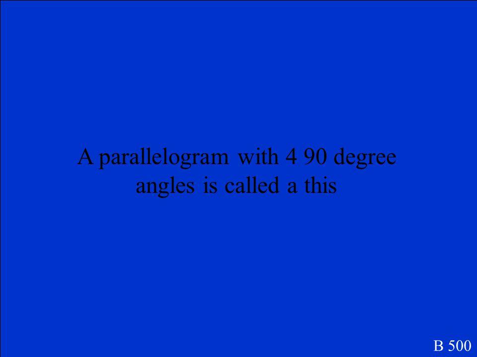 Parallelogram B 400