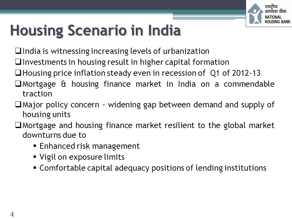 Housing Shortage in India  Housing Shortage estimates in India:  Investment required for affordable housing (Trend and Progress of Housing in India 2012) UnitsIn Rs.