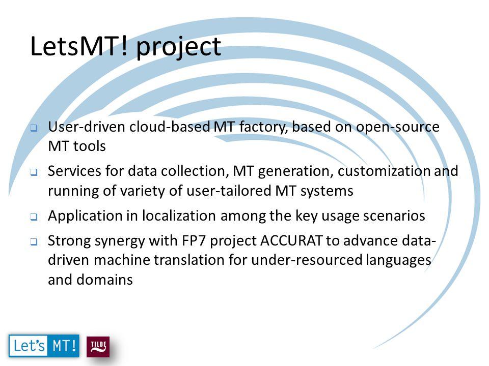 Application in localization workflow