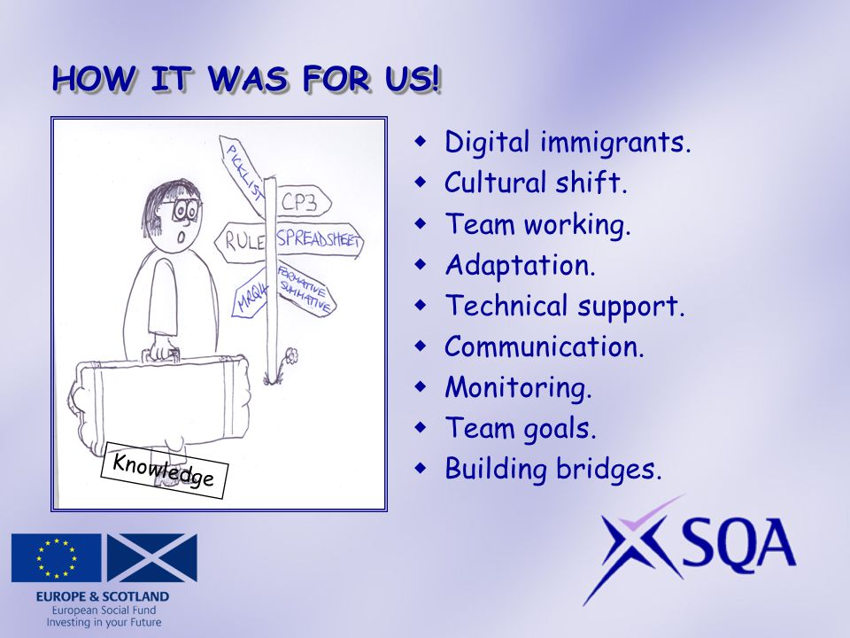 HOW IT WAS FOR US.  Digital immigrants.  Cultural shift.