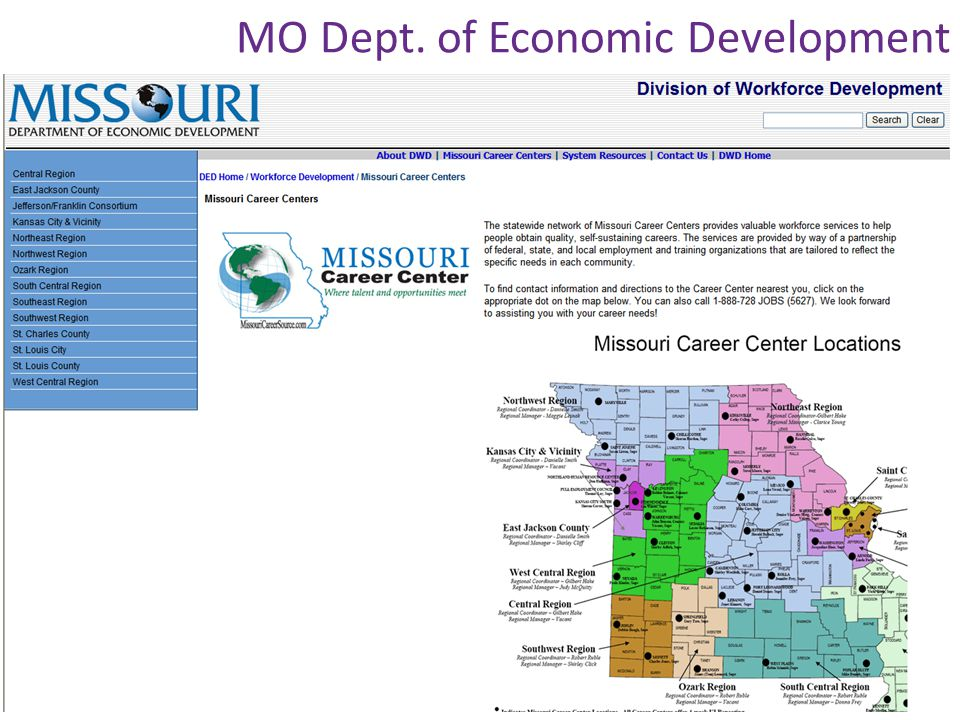 MO Dept. of Economic Development