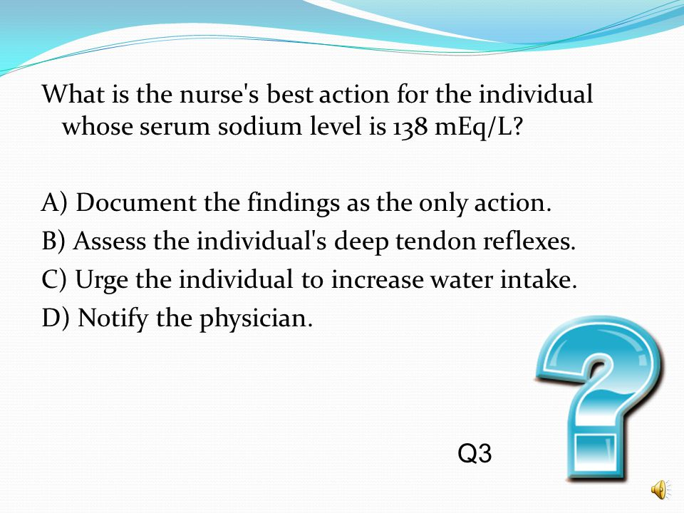 Which assessment finding obtained while taking the history of an older individual should alert the nurse to the possibility of fluid and electrolyte i