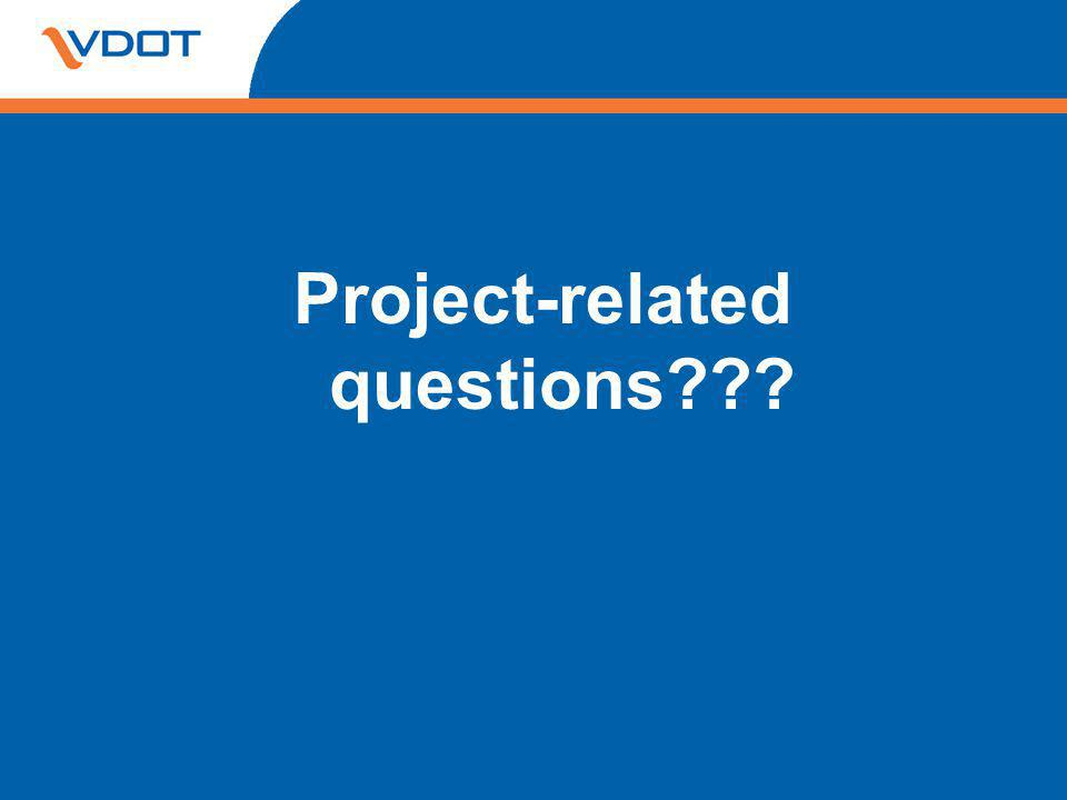 Project-related questions