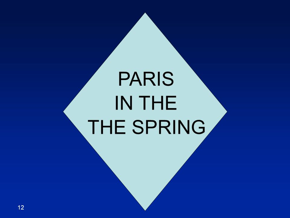 PARIS IN THE THE SPRING 12