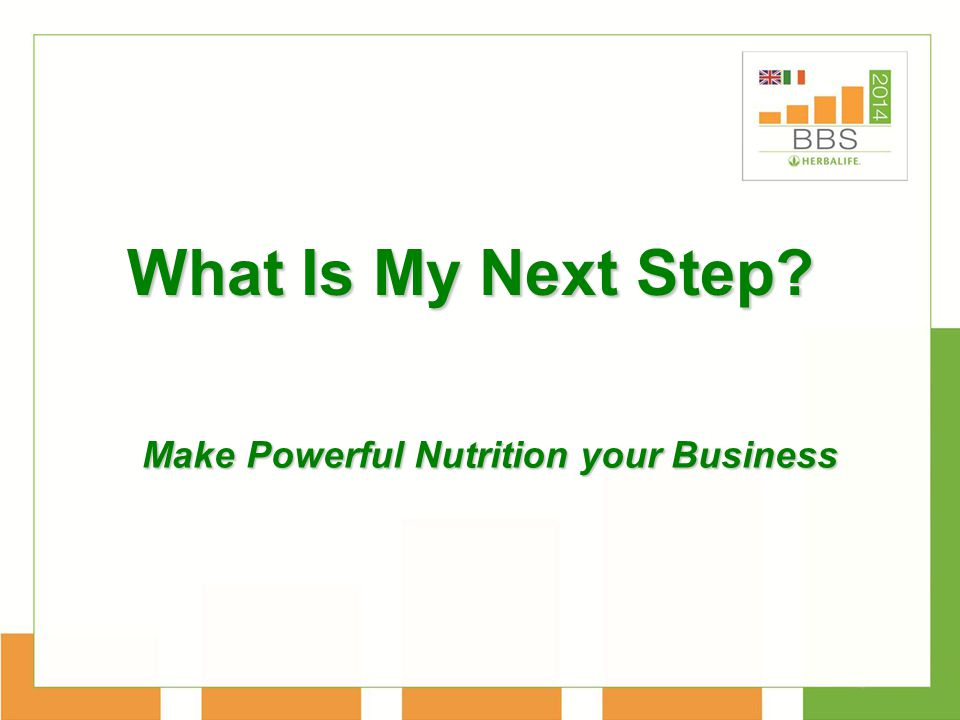 What Is My Next Step? Make Powerful Nutrition your Business