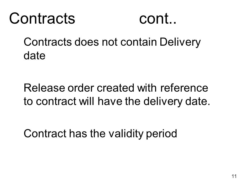 11 Contracts cont..