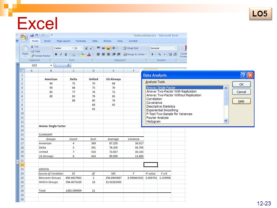 Excel LO5 12-23