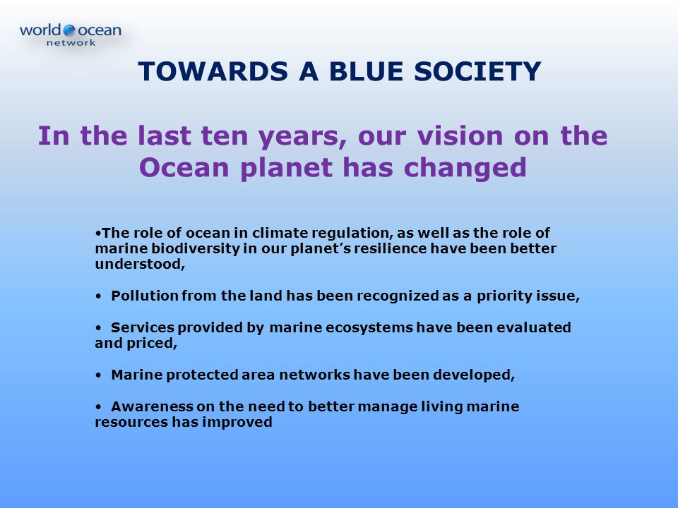 Oceans of opportunities… Oceans of new ideas… Oceans of partnerships… Oceans of actions… Please join!