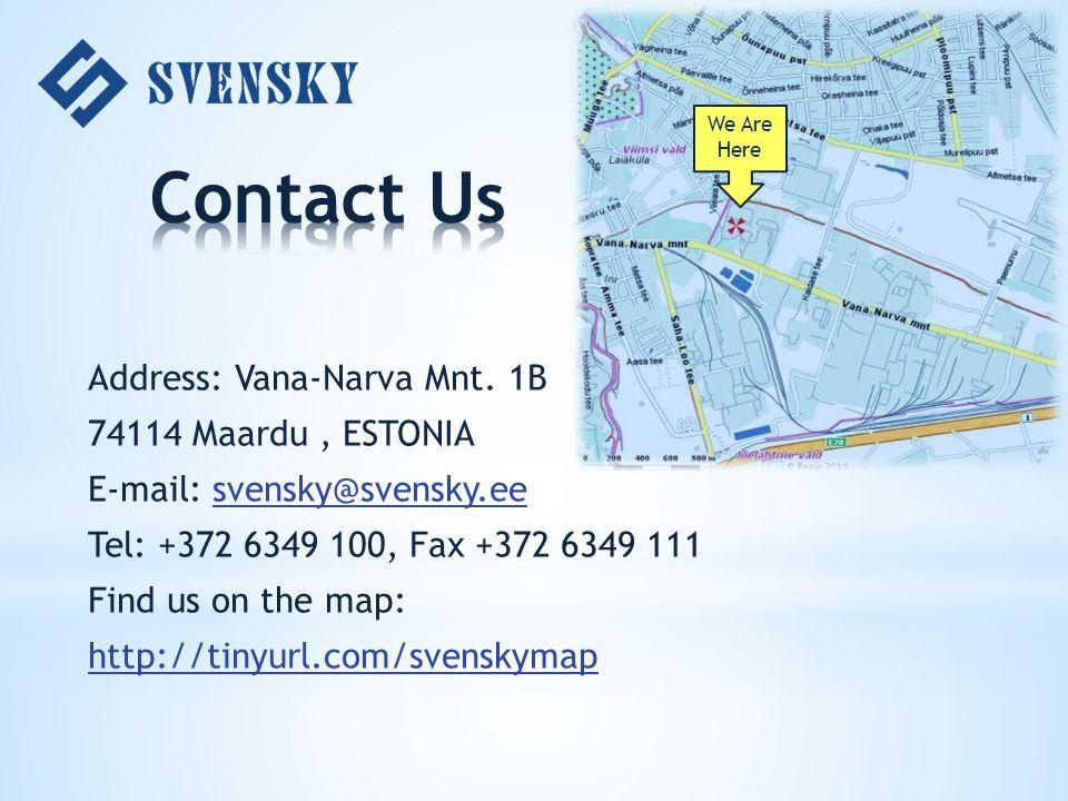 Address: Vana-Narva Mnt.