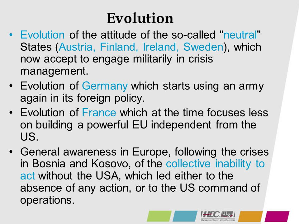 Evolution Evolution of the attitude of the so-called