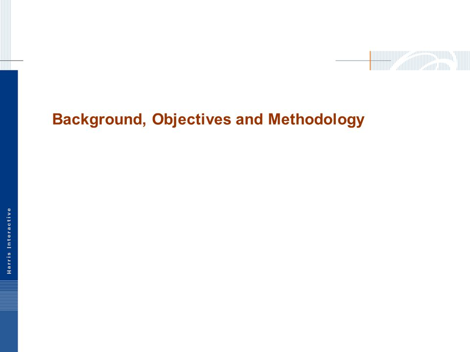 Background, Objectives and Methodology